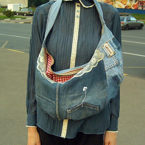 сшить сумку для маленькой девочки из джинсов.