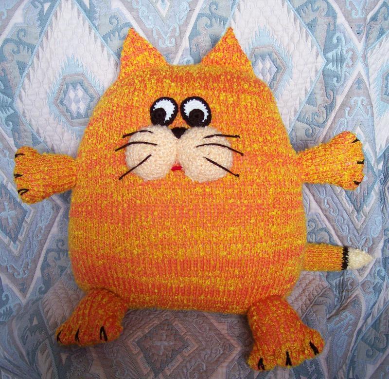 Игрушка подушка своими руками кот