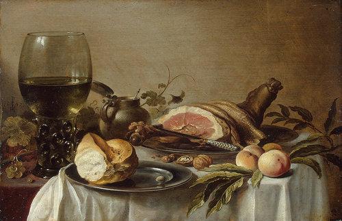 Питер Клас ван Харлем. Завтрак с ветчиной. Картинка 890x575, 218,90 КБ