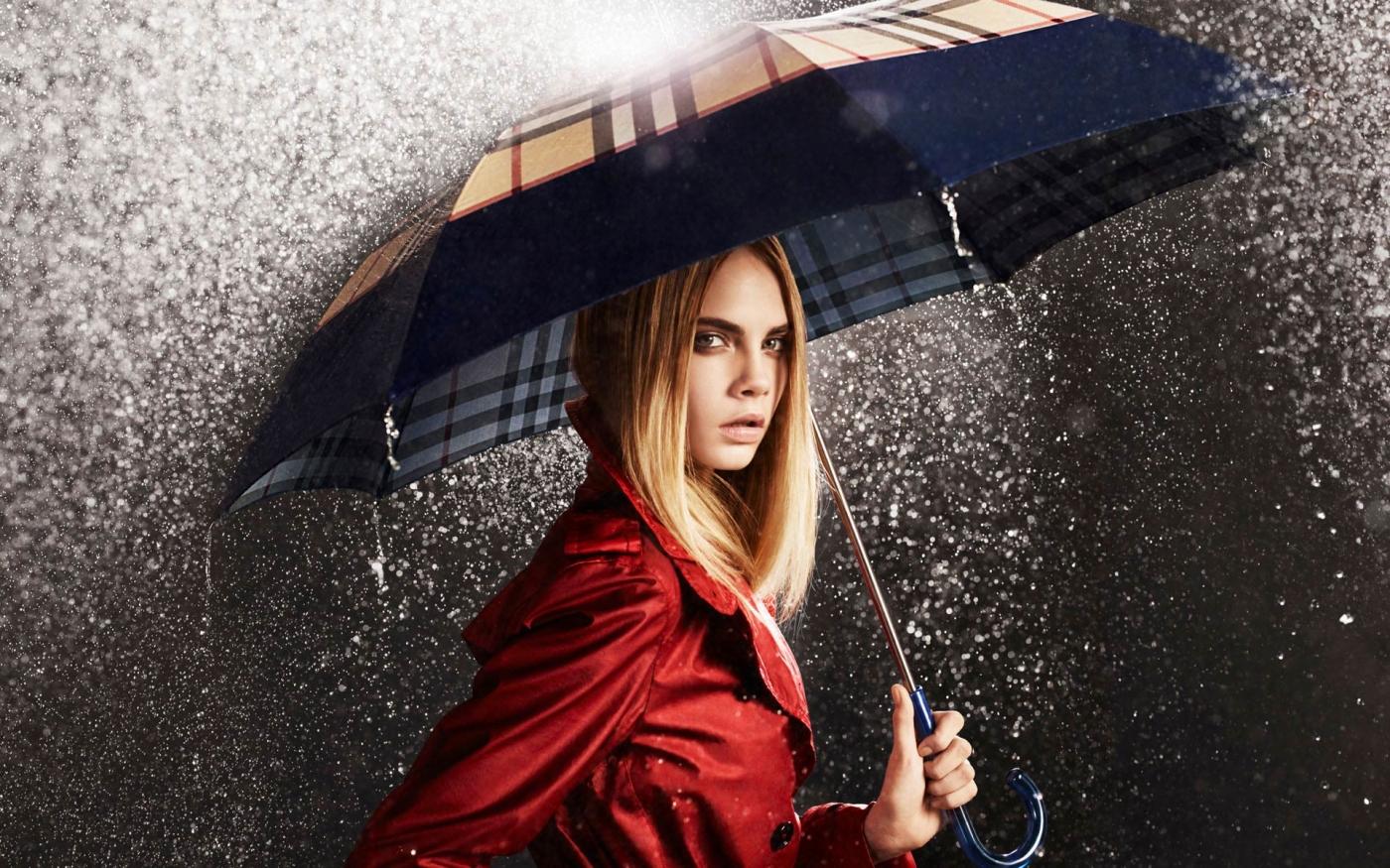 девушка зонт дождь природа  № 3582417  скачать