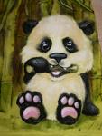 Большая панда или бамбуковый медведь - исчезающий вид млекопитающего.