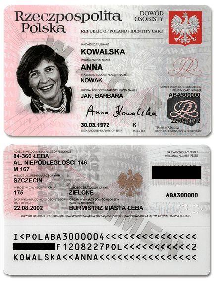 польский паспорт образец