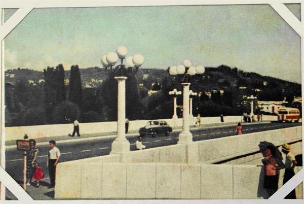 Вид центра Сочи с Ривьерского моста