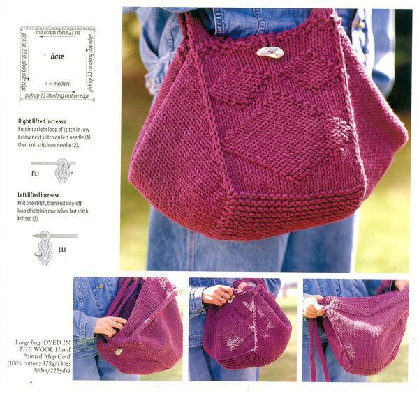 Вязаная сумка своими руками спицами