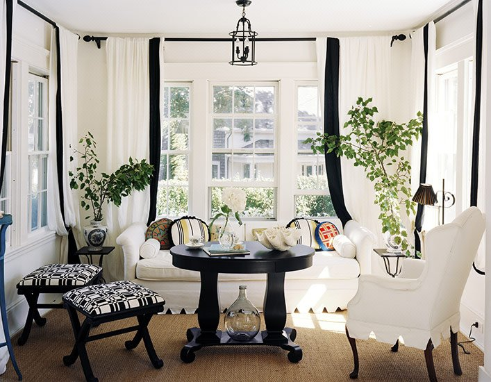 шторы в белом интерьере фото