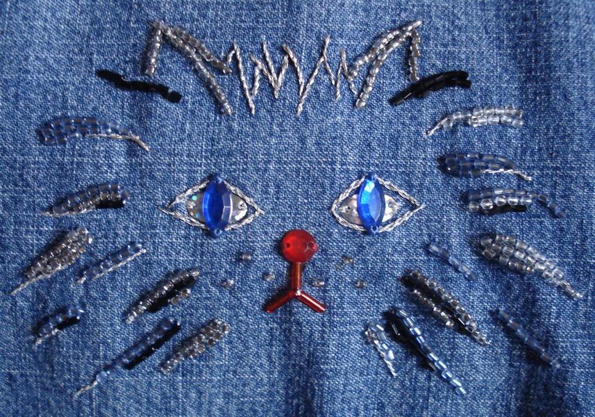 Вышивка на джинсах - А что