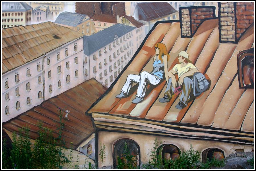 Граффити в Выборге