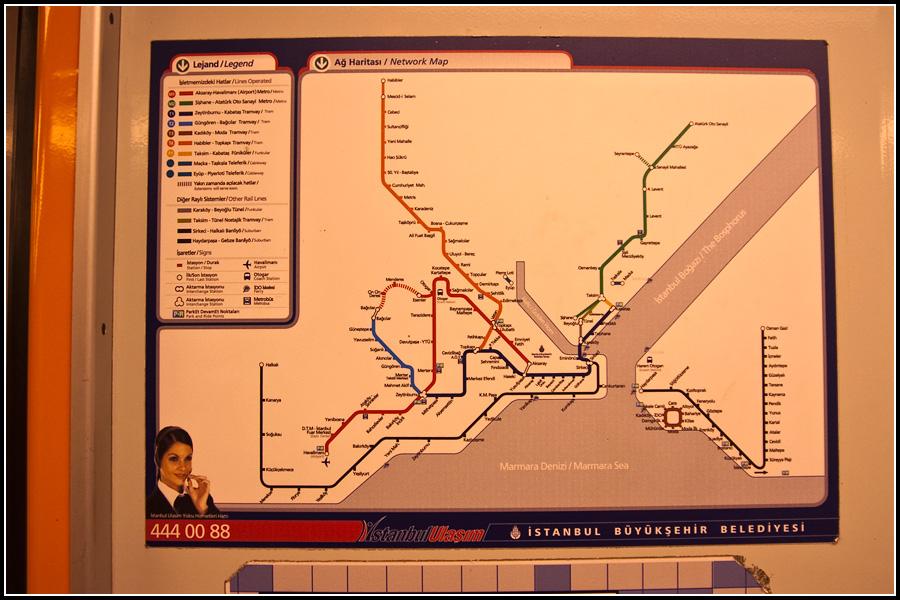 Схема общественного транспорта в Стамбуле.