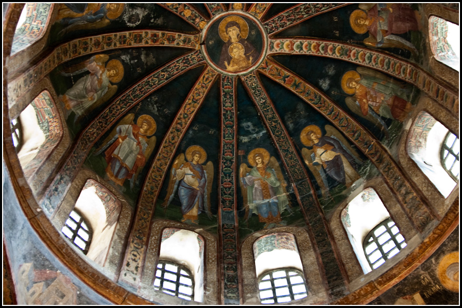Купол церкви Христа в Хорах