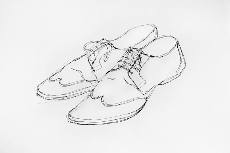 рисунки обуви карандашом: