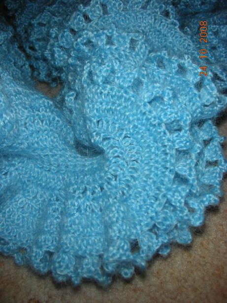 Описание: шарф из мохера крючком схемы.