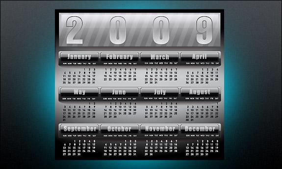 #19: Calendar 2009 template