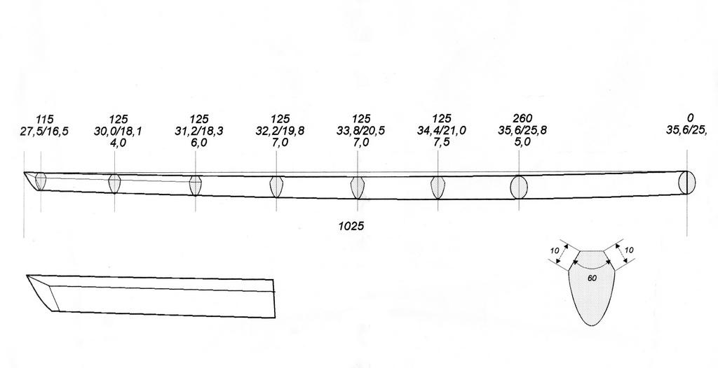 Как сделать меч чертеж 671