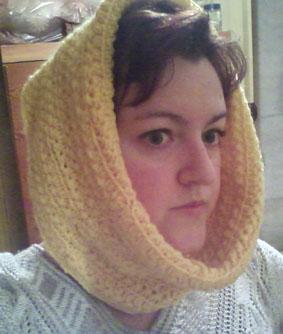 как связать хомут. вязание шарфа трубы.