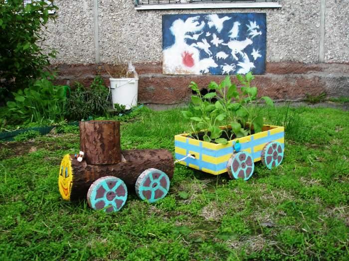 Поделка для садика уличная