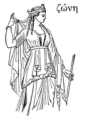 рисунки греческих костюмов.
