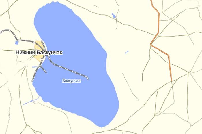 Озеро баскунчак где находится на карте