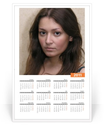 Photofunia 2011 New 2011 calendar!