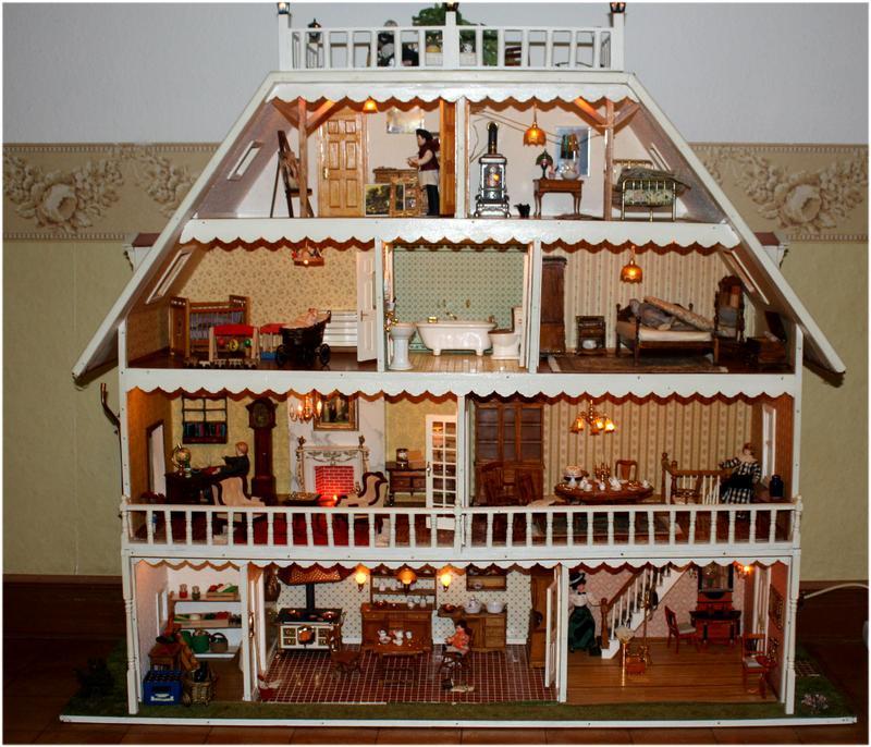 Как сделать дом для кукол только из картона 131