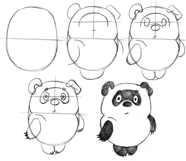 рисунки карандашом мультяшки.