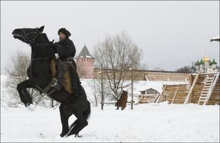 Петр Мамонов на коне