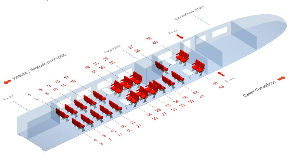 схема поезда 748а — схема