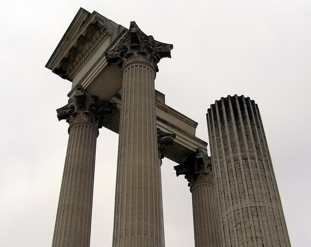 ксантен колонны вблизи