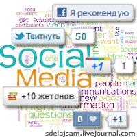 Кнопки социальных сетей в ЖЖ