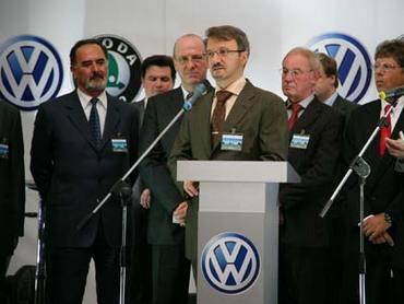 Volkswagen открывает завод в Росси