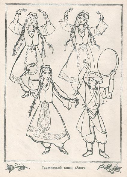 Раскраски народные костюмы россия