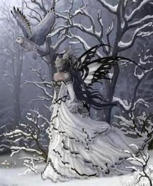 девушка и зима.