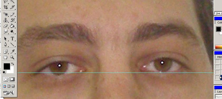 Выравнивание глаз