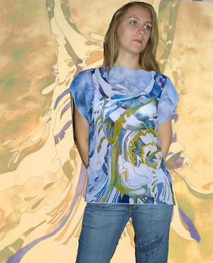 Блузка С Водопадом С Доставкой