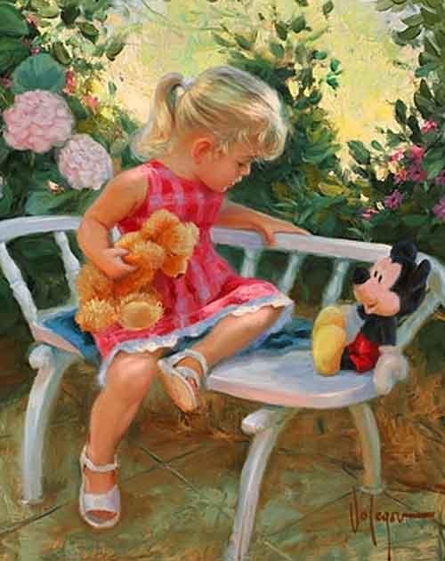 Картины с девочками своими руками 506