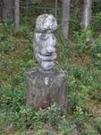 Скульптурный портрет неизвестного. Снимал Хоббит (Кандалакша)