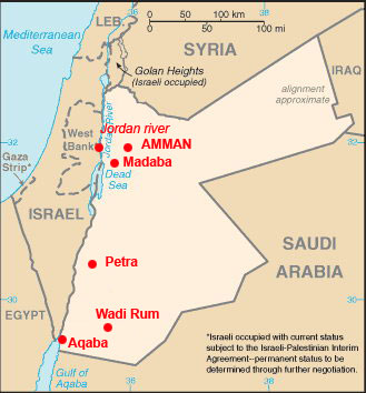 Иордания. Часть 4. Амман - Мадаба - Гора Небо - р.Иордан - Мертвое море (от Talenka)