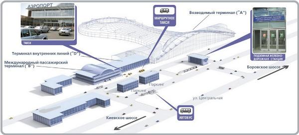 До аэропорта Внуково можно