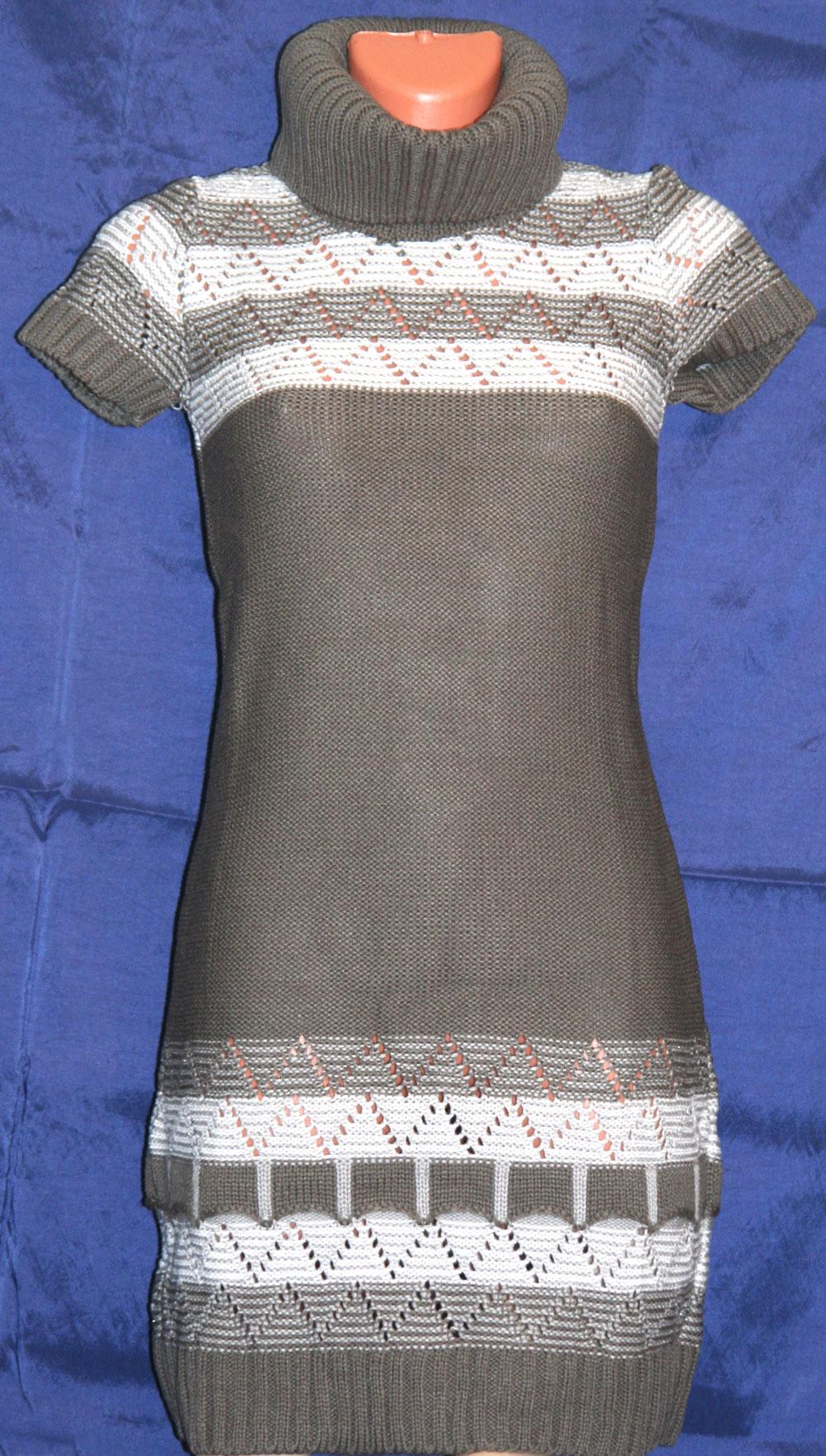 Вязаное платье спицами и крючком схема описание.
