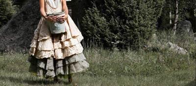 Загорелась идеей сшить платье с вот такой юбкой и не могу разобраться как.