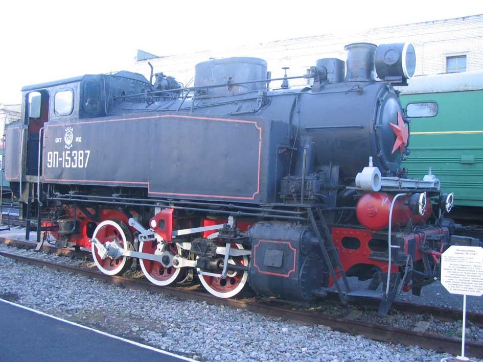 ПРОМЫШЛЕННЫЙ ПАРОВОЗ  9П-15387 Вес 55 т Конструкционная скорость 35 км.ч. Максимальная мощность на ободе колеса 500 л.с.