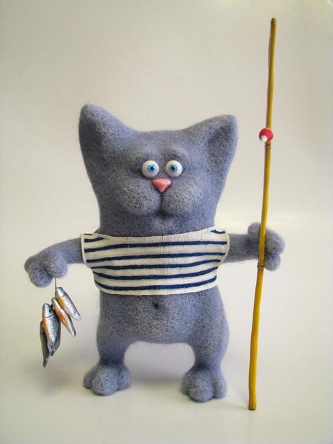 кролик кот рыболов