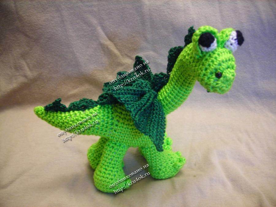 Как сделать дракона из крючком