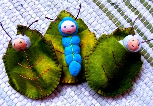 Гусеница игрушка своими руками