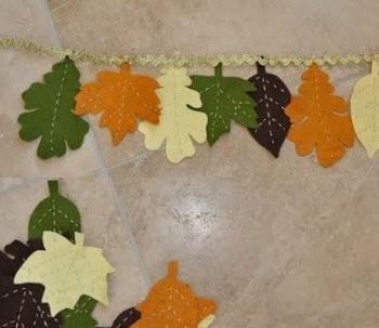 Как сделать из листьев гирлянду 24