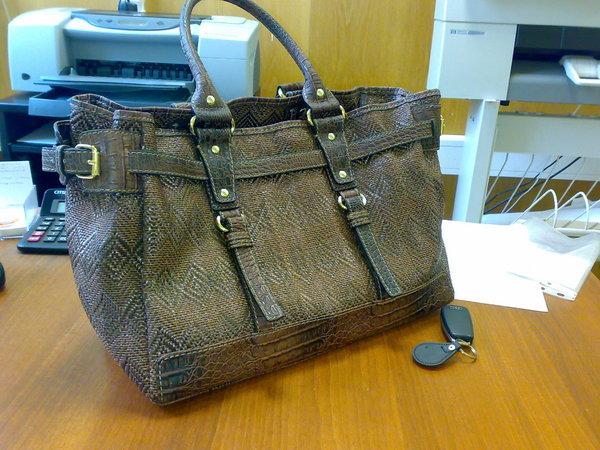 Вчерашнее приобретение - сумка из плетеной кожи - большая и...