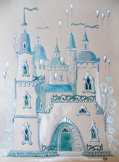 Замок воздушный рисунок