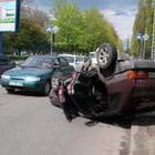 Происшествия: В Житомире перевернулось такси с тремя пассажирами