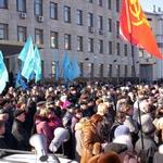 Житомир: Митинг в Житомире против захвата власти. ФОТО