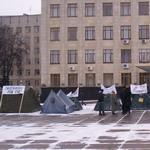 Политика: В центре Житомира появился палаточный городок. ФОТО