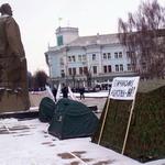 Политика: В Житомире продолжается круглосуточная дискотека-пикет. ФОТО